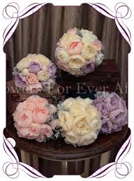 Silk Bridal Bouquet Georgia 4pc Set Flowers For Ever After U2013 Artificial Wedding