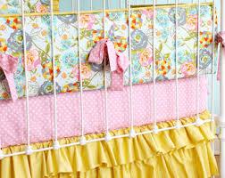 mustard crib bedding etsy