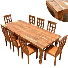 dining room rustic wood table with reclaimed and grey wall for