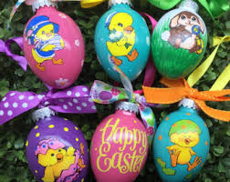 Easter Tree Hanging Decorations by Easter Tree Ornament Etsy