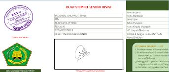 format absensi ujian xls otomatis software kartu ujian aplikasi excel free download