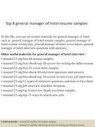 Sample Of General Resume by Sample Resume General Manager Hotel Templates