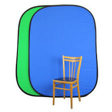 collapsible backdrop chroma key pop up background blue green 2m muslin photo geeks