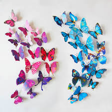 Butterfly 3d Wall Art by 3d Diy Beautiful Butterfly Wall Stickers Wall Art Home Decor