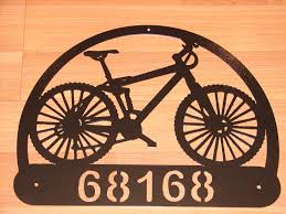custom bicycle address plaque metal sign personalized name