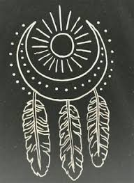 dream catcher white gel pen on black paper more sketch this