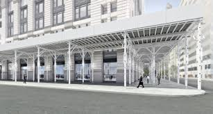 four winners named in nyc sidewalk shed competition building