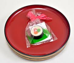 wedding gift japan japanese wedding favor candle sushi food japan tea light