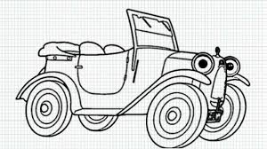 cartoon car black and white brum how to draw brum the car from brum cartoon series video
