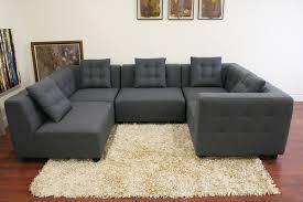 Sectional Gray Sofa Baxton Studio Alcoa Gray Fabric Modular Modern Sectional Sofa