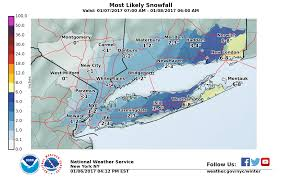 Snowfall Totals Map Long Island Weather Saturday Snow Total Projections Rise Again
