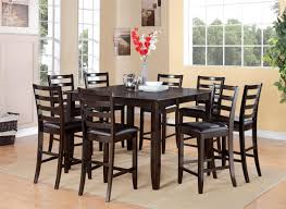 bar height dining room table sets dining room traditional black solid wood round height table design