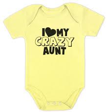 i love my crazy aunt baby bodysuit baby shower gift for boy