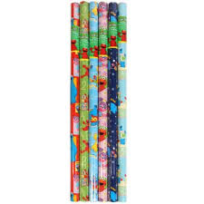 elmo christmas wrapping paper one roll of sesame gift wrap sesame wrapping paper