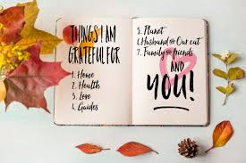 happy thanksgiving gratitude list sealed with