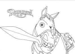 tangled maximus coloring pages getcoloringpages