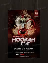 hookah night u2013 free psd flyer template psd flyers pinterest