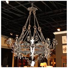 Black Metal Chandeliers Large French Black Iron Chandelier