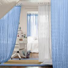 bedroom chic home interior design with bright blue and white