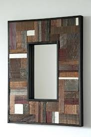 rustic wood wall mirror gallery home wall decoration ideas