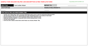 Nanny Job Description On Resume by Scaffold Builder Helper Job Descriptions