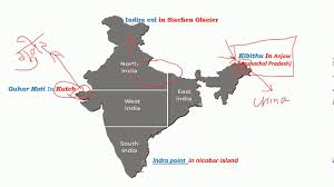 North India Map by List Of Extreme Point Of India Ssc Cgl Hindi Youtube