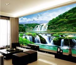 3d wallpaper bedroom mural roll landscape waterfall modern wall waterfall wall murals with a wolf