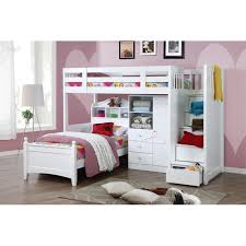 Design Bunk Bed WStair KSingle - Single bunk beds