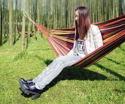 200 80cm outdoor portable individual rainbow hammock camping