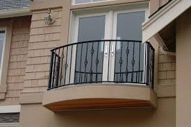 Painting Banisters Ideas Exteriors Classic Ornate Iron Black Balcony Railing Fence Large
