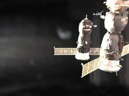 progress resupply craft pulls into port at iss after flawless