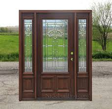 Cheap Exterior Door Cheap Entry Doors With Sidelights Exterior Glass Sale Door One