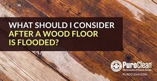 what should i consider after a wood floor is flooded water
