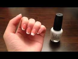 easy at home french manicure youtube