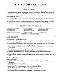 sample real estate agent resume real estate agent resume example