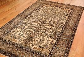 antique tree of prayer design isfahan rug 50645 nazmiyal