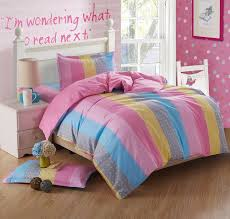 Pink Down Comforter Mesmerizing Bedroom Design With Rainbow Pattern Cute Down