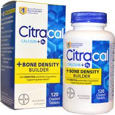 citracal calcium d3 bone density builder 120 coated tablets