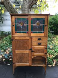 leadlight kitchen cabinets antique oak kitchen dresser with leadlight glass doors