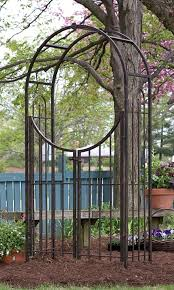 Panacea Trellis Panacea Arch Topped Garden Arbor With Gate Brushed Bronze At