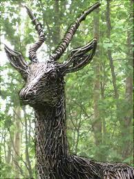 accessories exquisite deer willow shaped sculpture for garden