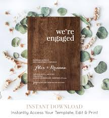 engagement party invitation template were engaged announcement