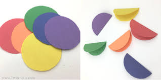 Paper Crafts - rainbow flowers construction paper crafts for paper