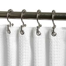 Curtain Ring Hooks Stainless Steel Hanger W Chrome Color 5 Square Balls Roller Shower