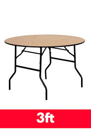round wooden folding table 3ft round trestle table from folding tables uk ftuk