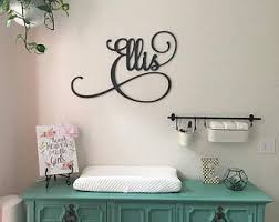 Baby Monogram Wall Decor Baby Monogram Etsy