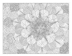 free printable abstract coloring pages for adults intricate