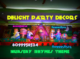 Nursery Rhymes Decorations Delight Decors Nursery Rhymes Theme Decoration In