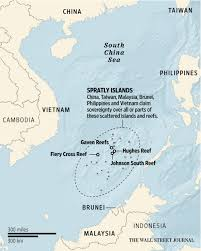 South China Sea Map South China Sea Sees Significant Construction Geographical