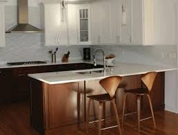 White Wooden Bar Stool Cherry Brown Wooden Kitchen Counter Wooden Cushioned Metal Stool